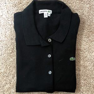 Lacoste Black Polo Top with Buttons
